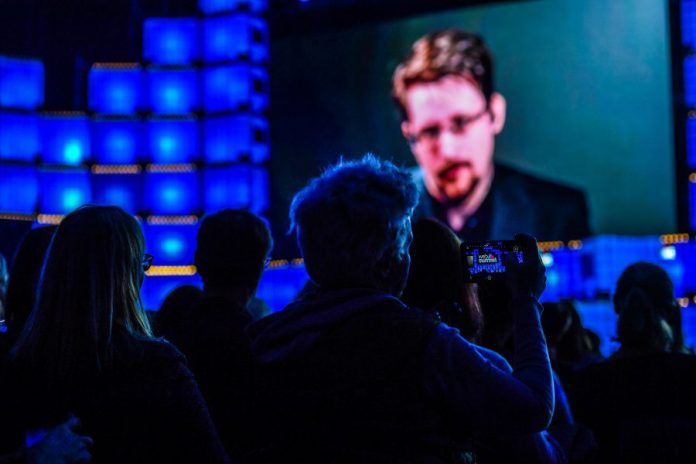 Edward Snowden Interview Talk Web Summit Tech Conference