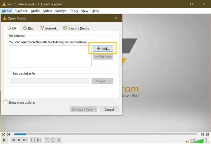 Batch-Convert Bulk Mov To Mp4 Video Conversion Free Easy VLC Step 3