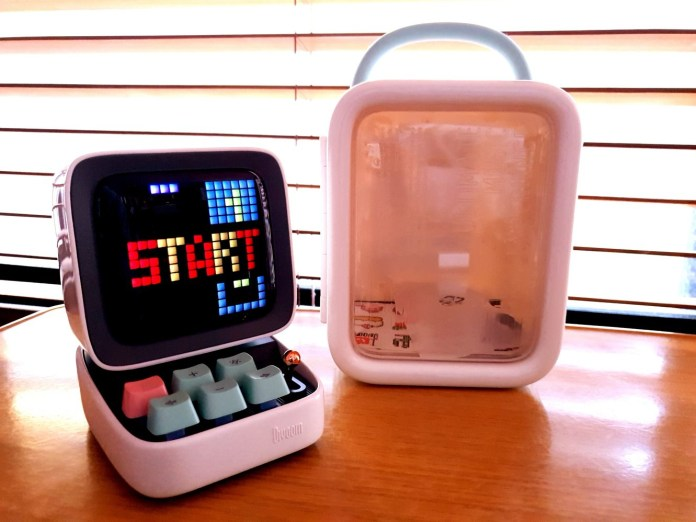 Ditoo Divoom Smart Clock Pixel Art Gadget On Desk