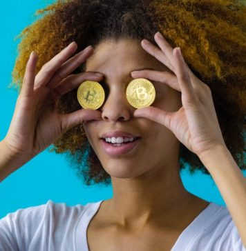 Bitcoin Woman Holding Coins Cryptocurrency Trading Investment Trends In 2020