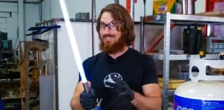 James Hobson Hacksmith Builds Working Functional Retractable Plasma Lightsaber Star Wars Jedi Sith STEM Science Maker