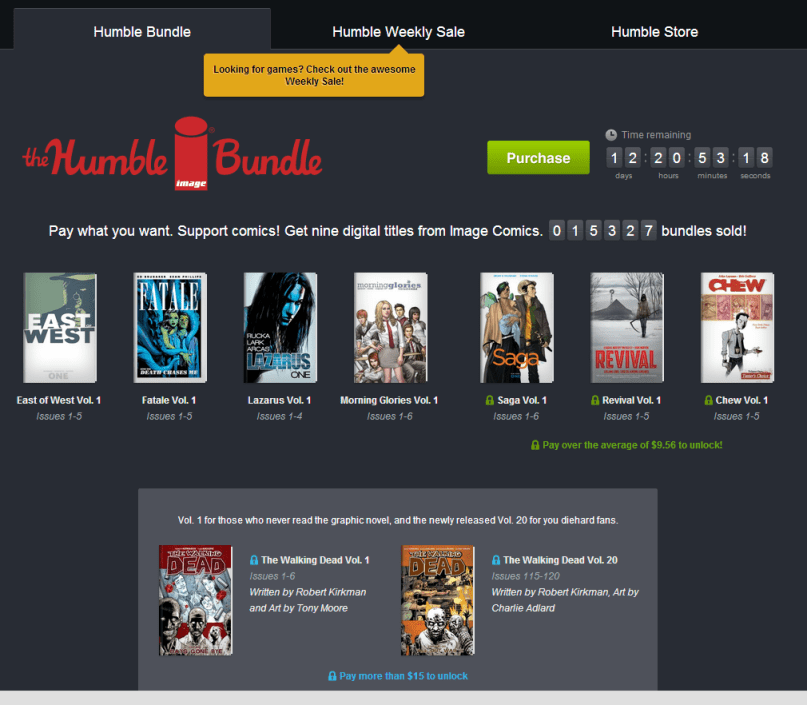 Humble Bundle Page