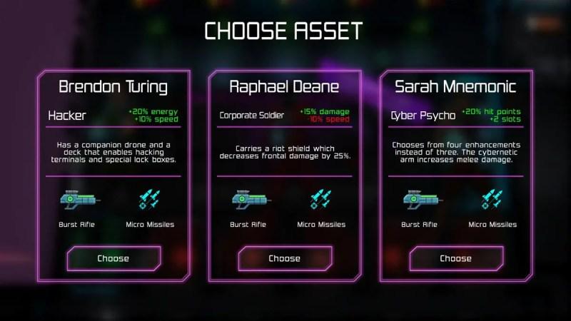 Neon-Chrome-Asset-Selection