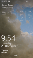Windows Phone 8.1 Lock Screen With Weather App Background