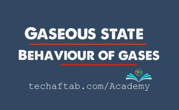 Gaseous State Behavior of Gases Thumbnail