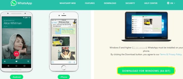 Use WhatsApp Software for Windows or Mac