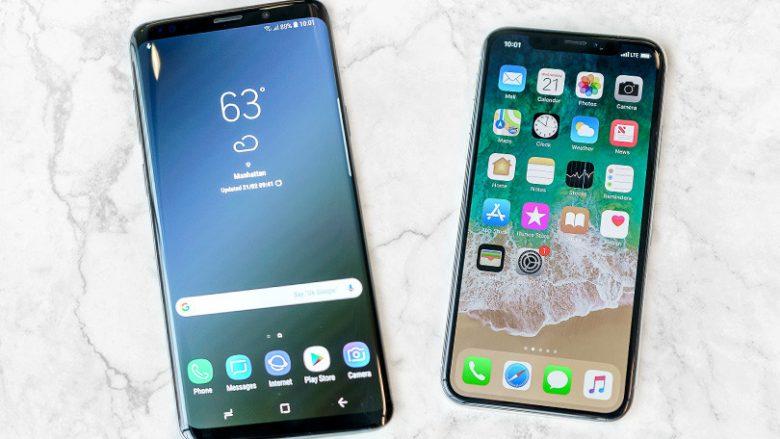 Galaxy S9 dhe S9+ 'përmbysin' nga froni iPhone X