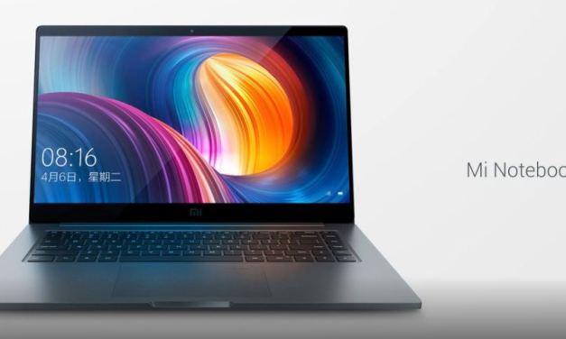 Xiaomi Mi Notebook Pro anunciado con pantalla de 15,6 pulgadas y Intel I7