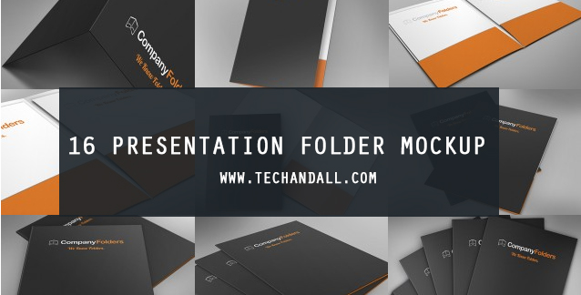 All you have to do is download the free psd mockup template and add your own label design, logo, badge or text into the smart layer and hit save. 16 Presentation Folder Mockup Tech All
