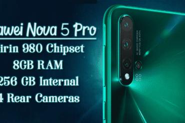 Huawei Announces Nova 5, Nova 5 Pro & Nova 5i - Specs & Price