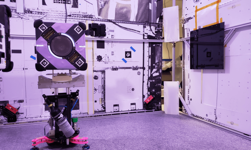 A gecko-adhesive gripper for the Astrobee free-flying robot