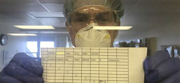 SARS-CoV-2 detectable -- though likely not transmissible -- on hospital surfaces