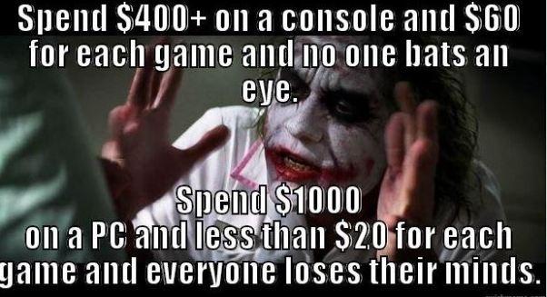pc gaming joker meme