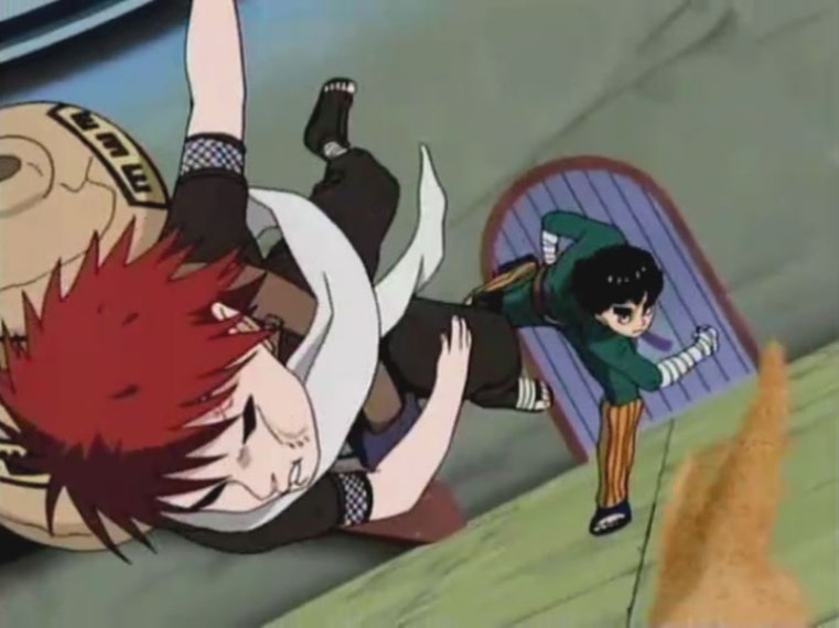 lee punching gaara