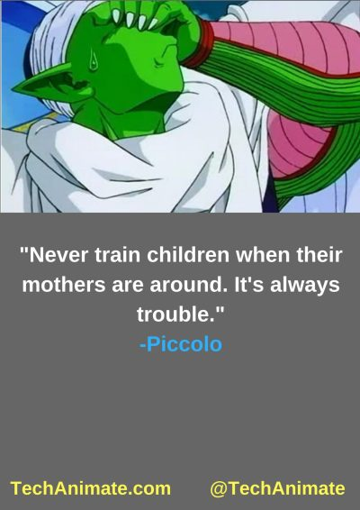 Never train children when their mothers are around. It's always trouble.