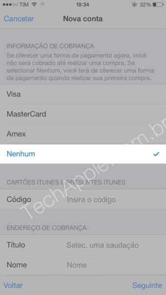 Como criar uma conta na App Store sem Cartão De Crédito pelo iPhone,iPad e iPod touch