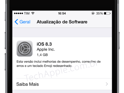 Apple libera iOS 8.3