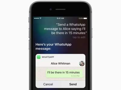 Apple mostra como será o WhatsApp, UBER e outros na Siri do iOS 10   TechApple.com.br