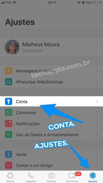 Ajustes do WhatsApp | TechApple.com.br