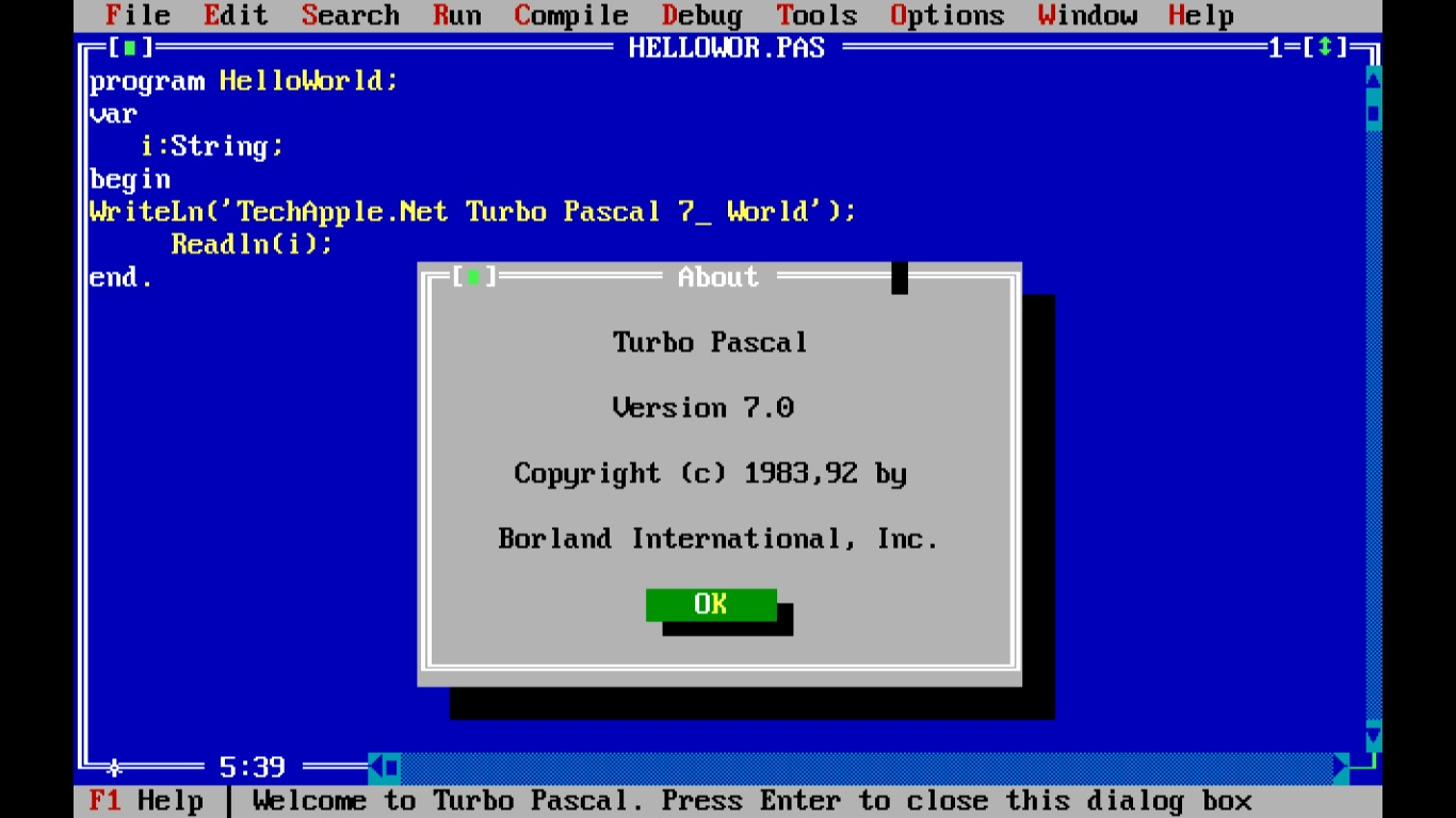 7 WINDOWS TURBO PASCAL TÉLÉCHARGER TPW