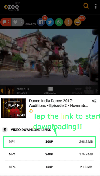 How to Download Ozee Videos on Android by Ozee Video