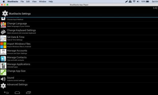 Bluestacks emulator for Mac OS