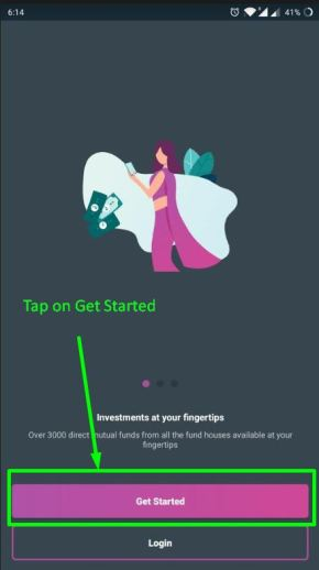 Tap on Get Started