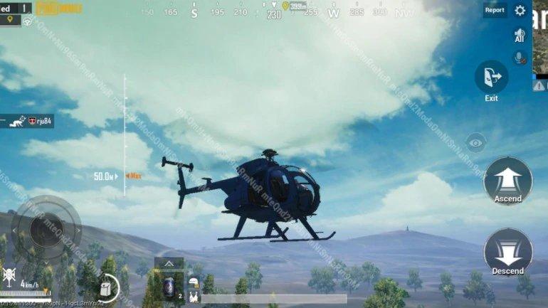 هليكوبتر بالتحديث الأخير من ببجي موبايل
