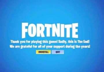 الرسالة الحزينة من مطور لعبة Fortnite للمستخدمين.