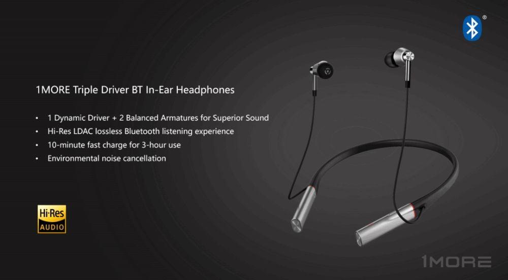 1More Triple Driver Bluetooth Earphone