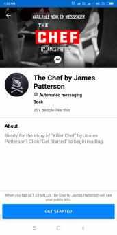 Novel in Facebook Messenger