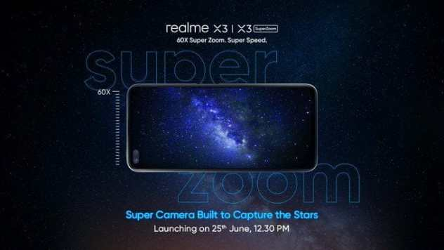 Realme X3 SuperZoom with 60x zoom also set to debut on June 25 in India - Gizmochina