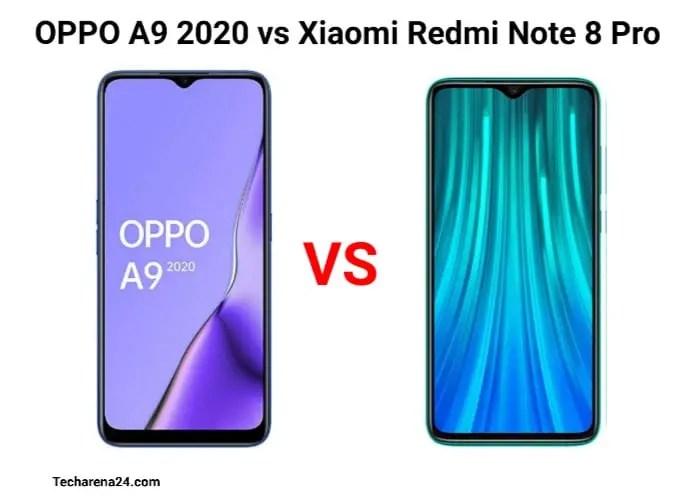 OPPO A9 2020 VS XIAOMI REDMI NOTE 8 PRO