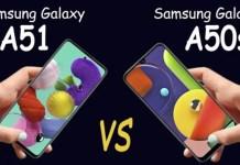 Samsung Galaxy A51 vs Galaxy A50s