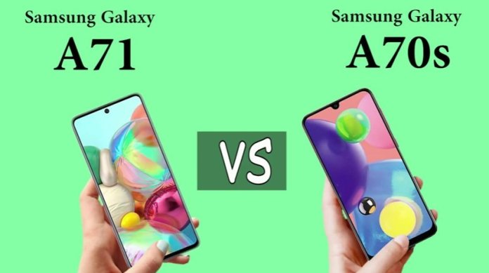 Samsung Galaxy A71 vs Galaxy A70s