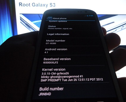 Galaxy S3 Android 4.1
