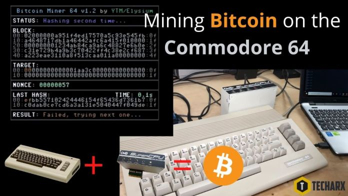 Mining Bitcoin on the Commodore 64