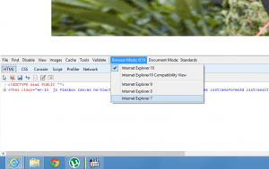 Web Developer Tools in Internet Explorer 10