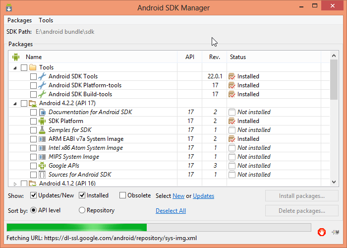 How to Fix : Android SDK Manager failing to open in Android