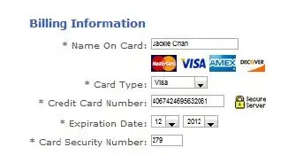 Fake Virtual Credit Card for fast payment