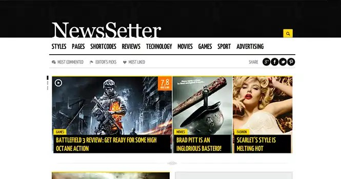 NewsSetter WordPress Theme by ThemeFuse Giveaway