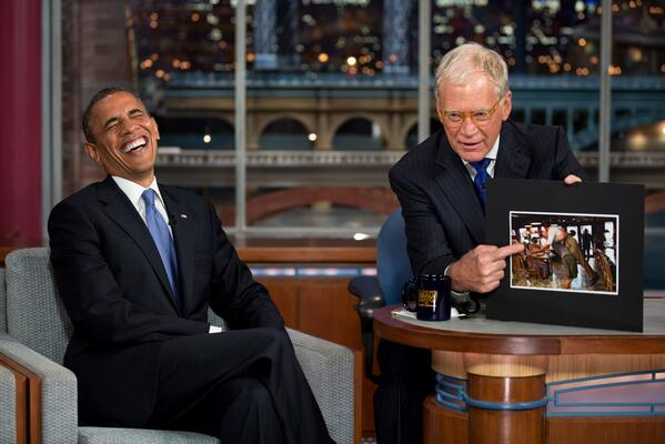 President Barack Obama has more reasons why David Letterman will be missed