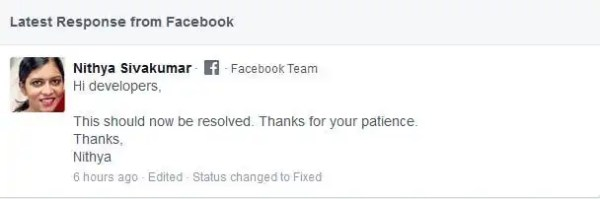FYI - Facebook Bug affect Share Dialogue Preview Issue Resolved