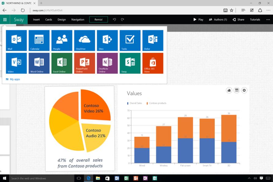 26. Sway - Office 365 App Switcher