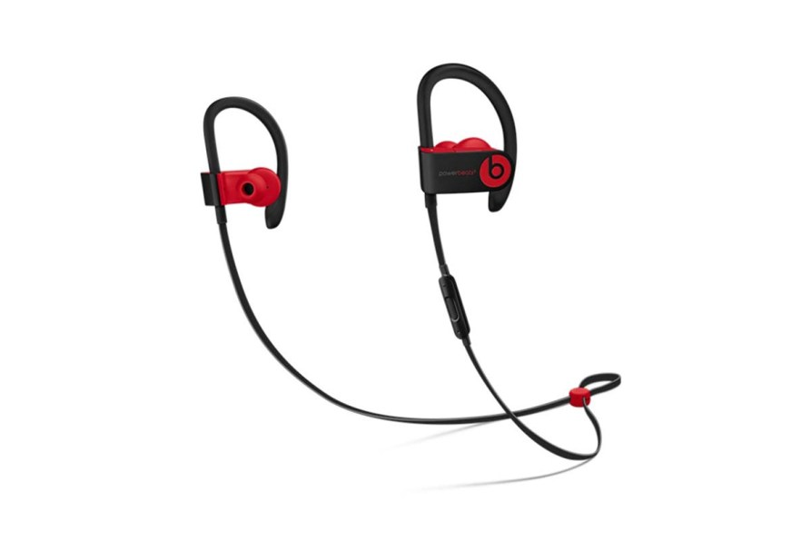 This image has an empty alt attribute; its file name is Beats-Powerbeats3-Wireless-Earphones-Defiant-Black-Red-2.jpg