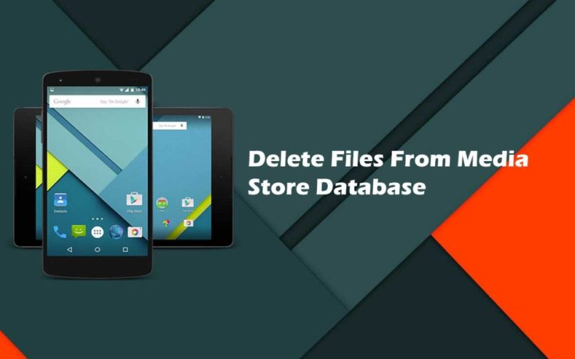 How to delete a file from mediastore's database or how to notify mediastore that a content is deleted ?