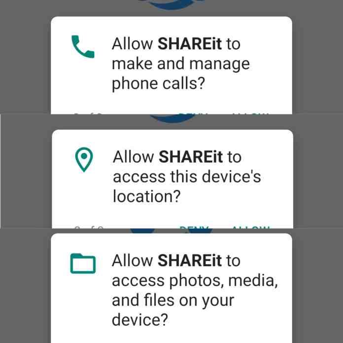 SHAREit Alternatives (Permissions)