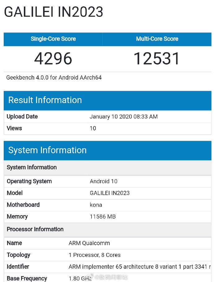 OnePlus 8 Pro - GeekBench