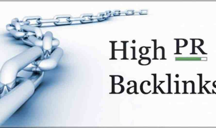 25 High PageRank sites to get BackLinks