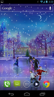 Christmas Rink Live Wallpaper2